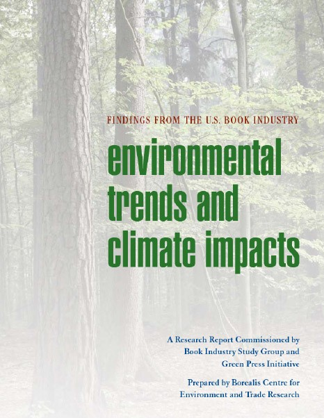 Environmental Trends and Climate Impacts: Findings from the U.S. Book Industry